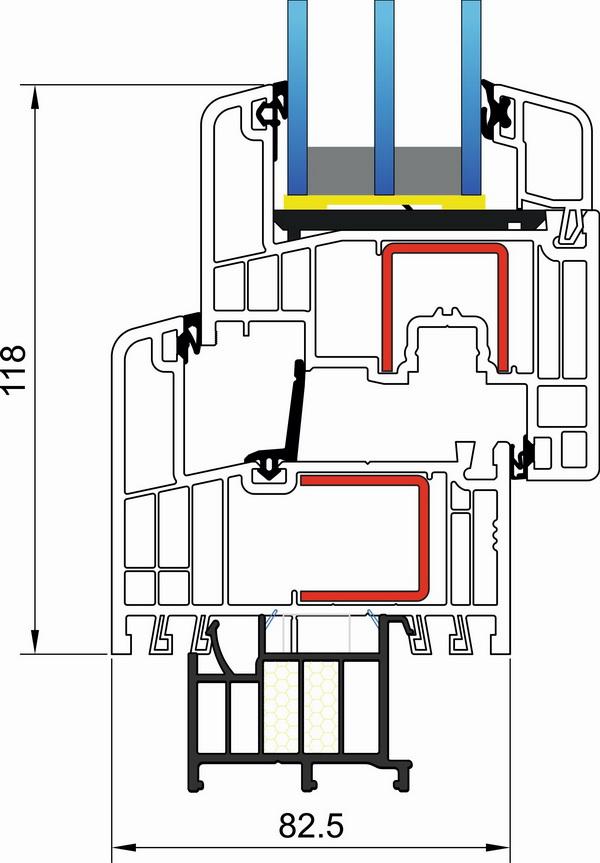 Okna Hudek Gealan S 9000